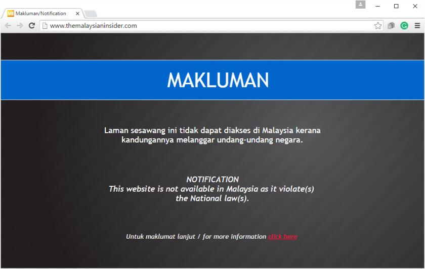 Malaysian Insider BLOCKED