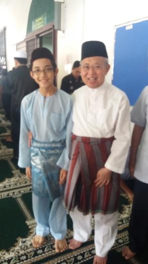 A photo of Ku Li and I, after our Friday prayer, July 15, 2016.