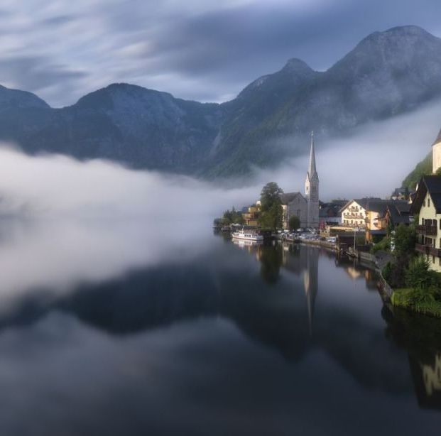 """The image was taken from Hallstat Village in Austria right after sunrise. I had to walk some distance to reach this village view point."" (Shanof K. / National Geographic Nature Photographer of the Year contest)"