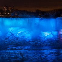 Ice and water flow over the American Falls, viewed from the Canadian side in Niagara Falls, Ontario, Canada, January 2, 2018. REUTERS/Aaron Lynett