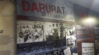Sebahagian pameran tentang darurat di Tanah Melayu.